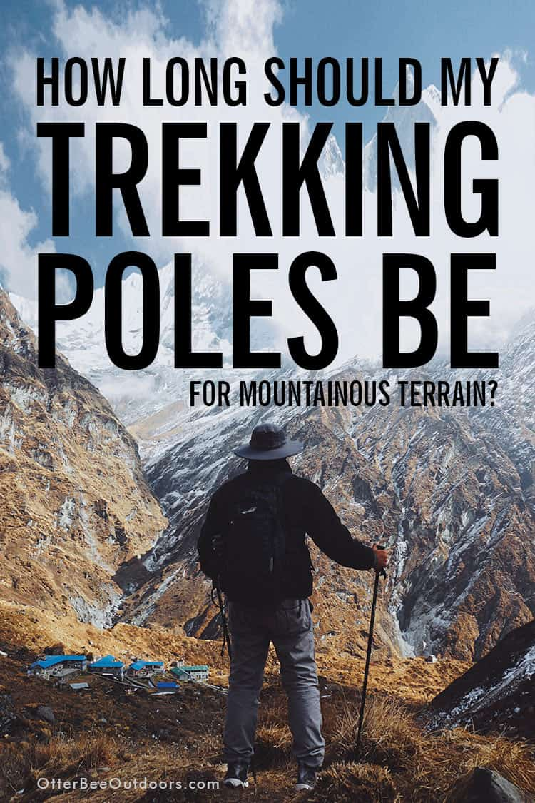 How to choose the pole length for adjustable-length trekking poles and hiking staffs for various terrain to reduce the strain hiking places on the joints of your lower body. This guide reviews the pole length adjustments you need to make when hiking on flat terrain, uphill, downhill, and on the contour of a slope. #hikingpoles #trekkingpoles #hikingstaff #hikingsticks #walkingpoles #walkingsticks