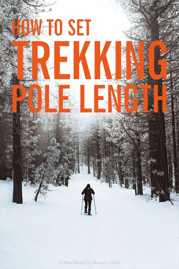 Trekking poles need to be adjusted to different lengths depending on the type of terrain you're hiking. This guide reviews the pole length adjustments you need to make when hiking on flat terrain, uphill, downhill, and on the contour of a slope. #hikingpoles #trekkingpoles #hikingstaff #hikingsticks #walkingpoles #walkingsticks