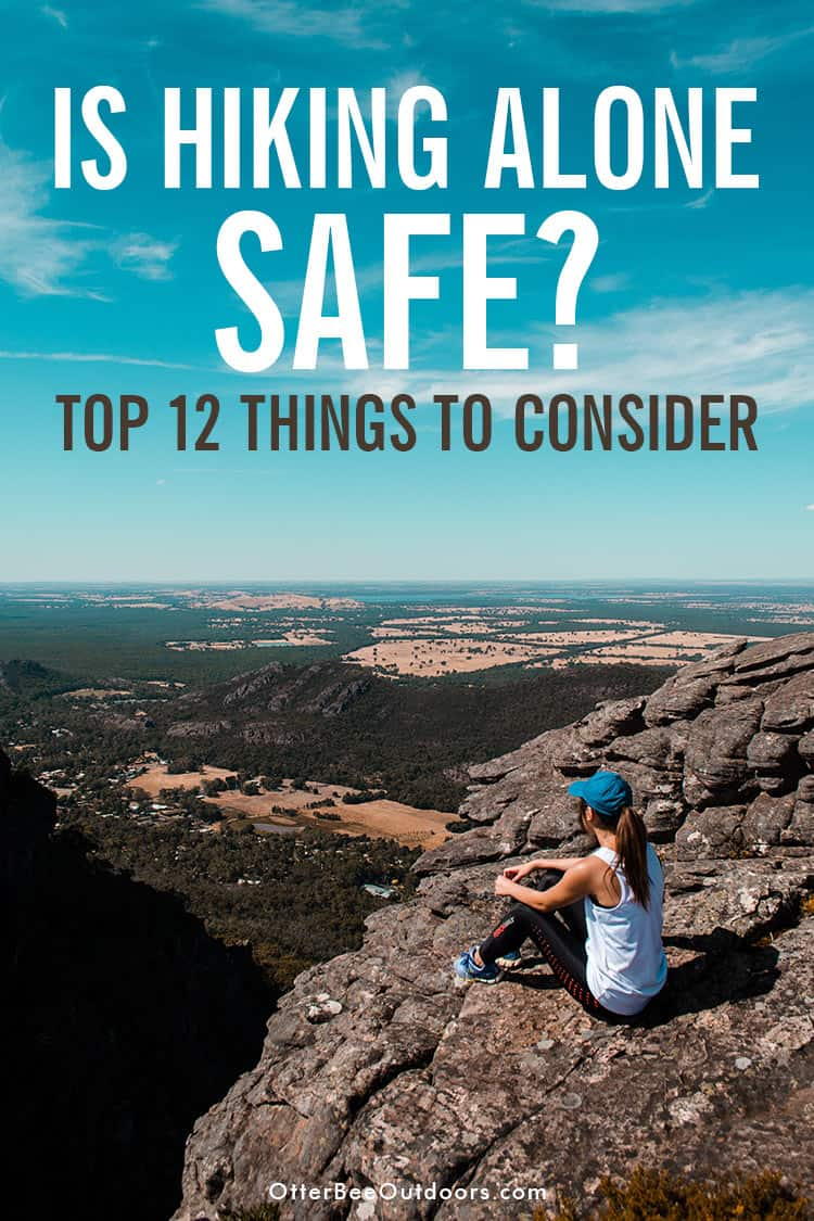 Is hiking alone safe? No, solo hiking isn't safe for women or men. Beginning hikers and expert hikers alike can all get injured or attacked. Things you should consider before hiking alone and safety tips for solo hiking. #hikingalone #hikingalonewoman #hikingalonetips #solohiking #solohikingwoman #solohikingessentials