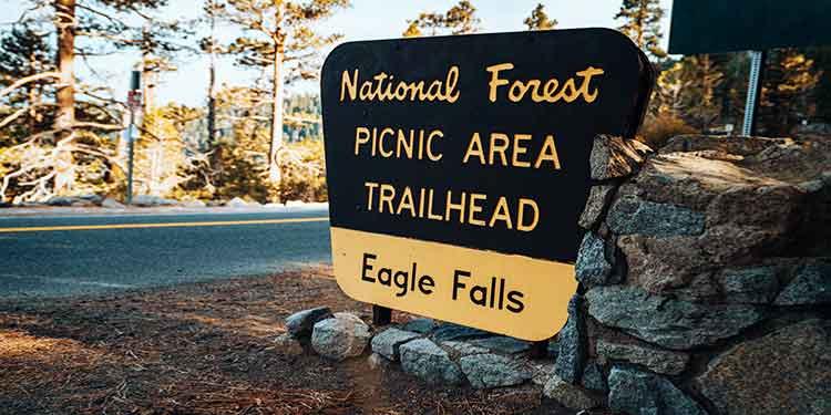 Eagle Falls National Forest picnic area and trailhead.