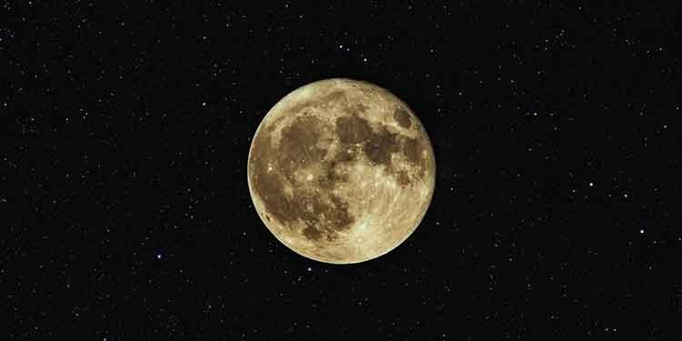 Full moon and stars.