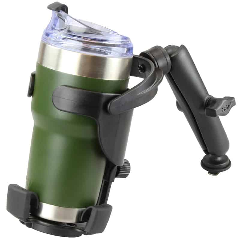 RAM Level Cup XL 32oz Drink Holder with Arm and Track Base