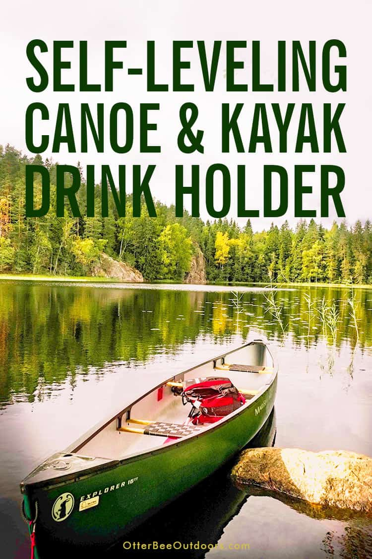 The Best Canoe & Kayak Cup Holder... It Self-Levels!: Canoe on a calm lake that's missing a much needed cup holder.