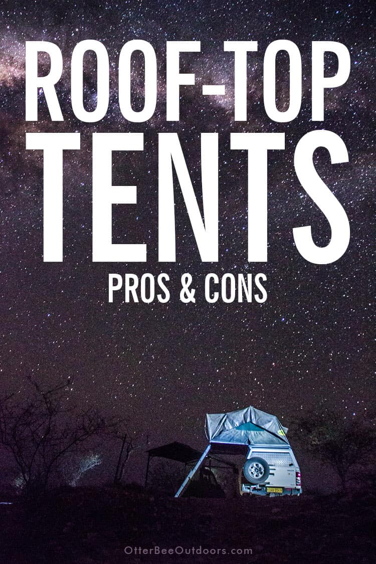 Roof-top tent set up on a 4x4 under the night sky.