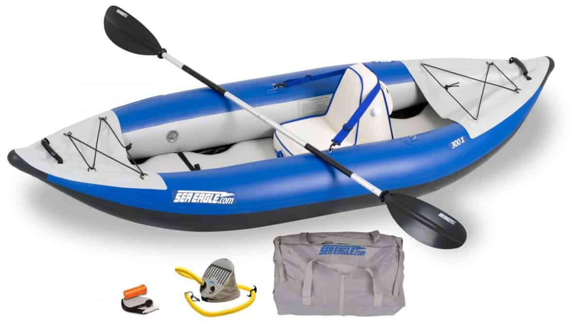 Sea Eagle 300x Explorer Inflatable Kayak Deluxe Package, Model Number 300XK_D.