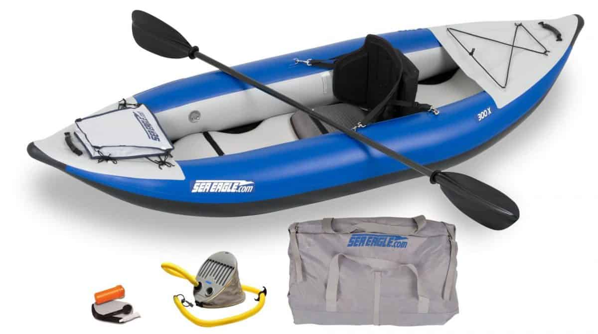 Sea Eagle 300x Explorer Inflatable Kayak Pro Carbon Package, Model Number 300XK_PC.