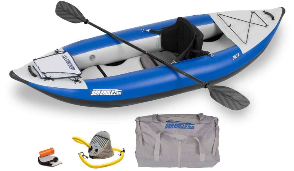 Sea Eagle 300x Explorer Inflatable Kayak Pro Kayak Package, Model Number 300XK_P.