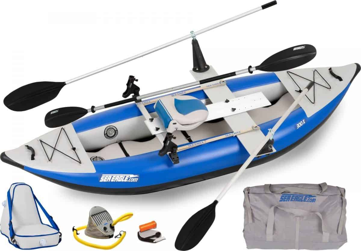 Sea Eagle 300x Explorer Inflatable Kayak QuikRow Package, Model Number 300XK_QR.