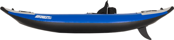 Side view of a Sea Eagle 300x Explorer Inflatable Kayak.
