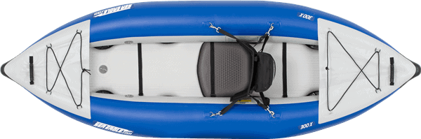 Top view of a Sea Eagle 300x Explorer Inflatable Kayak.