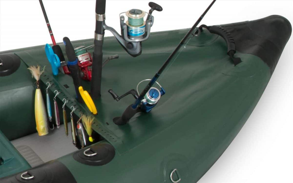 Sea Eagle 350fx Fishing Explorer Inflatable Kayak Customized Front and Rear Spray Skirts.