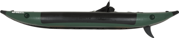 Side View of a Sea Eagle 350fx Fishing Explorer Kayak.
