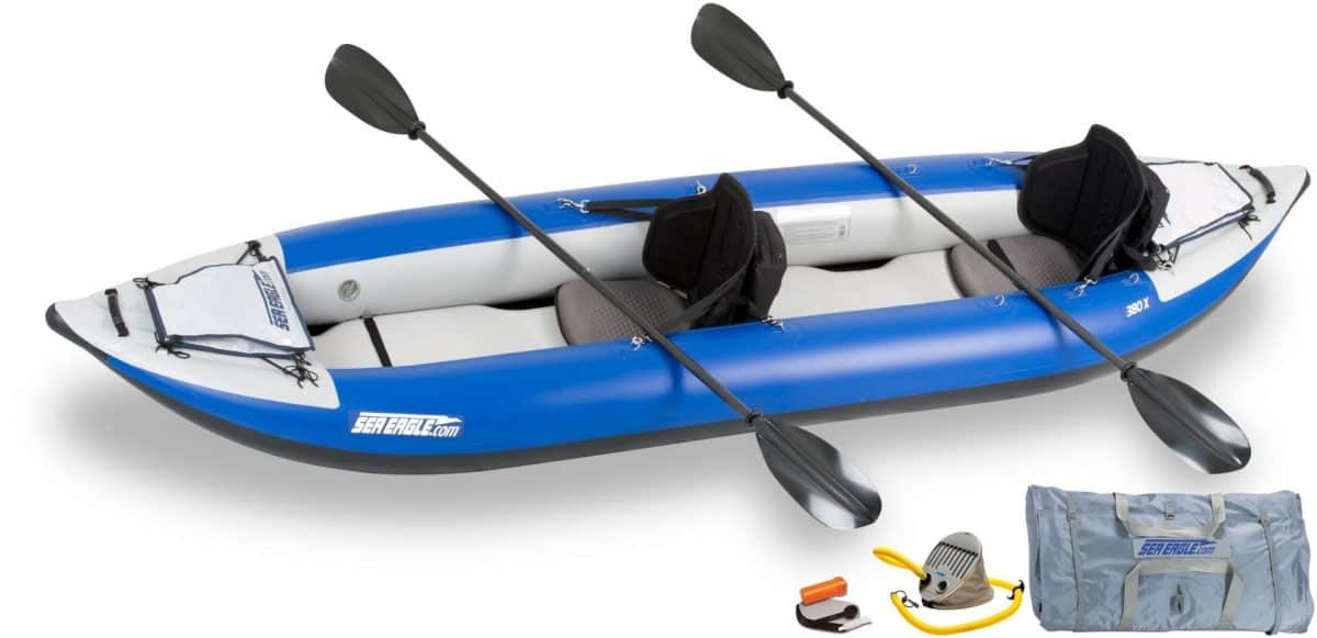 Sea Eagle 380x Explorer Inflatable Kayak Pro Carbon Package, Model Number 380XK_PC.