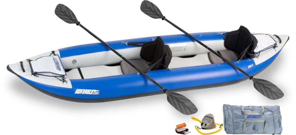 Sea Eagle 380x Explorer Inflatable Kayak Pro Kayak Package, Model Number 380XK_P.