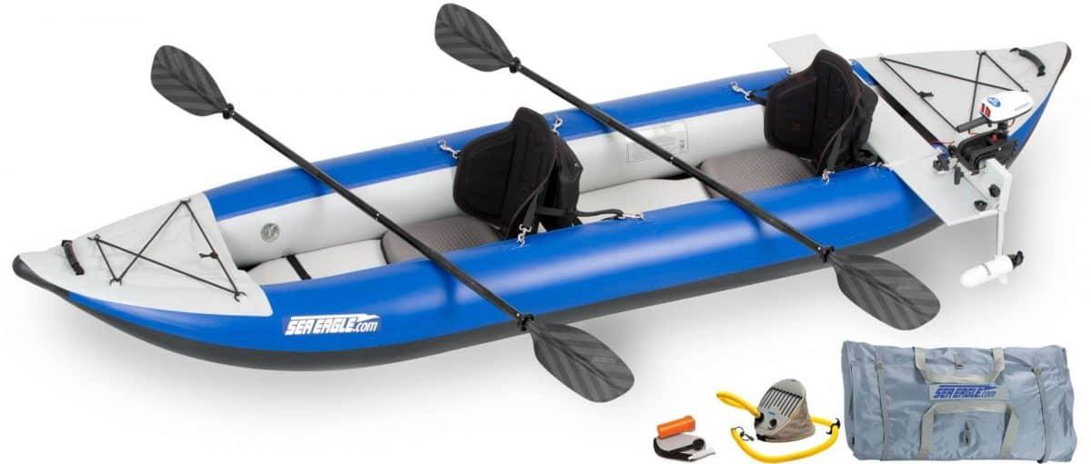 Sea Eagle 380X Explorer Inflatable Kayak Pro Motor Package, Model Number 380XK_PM.