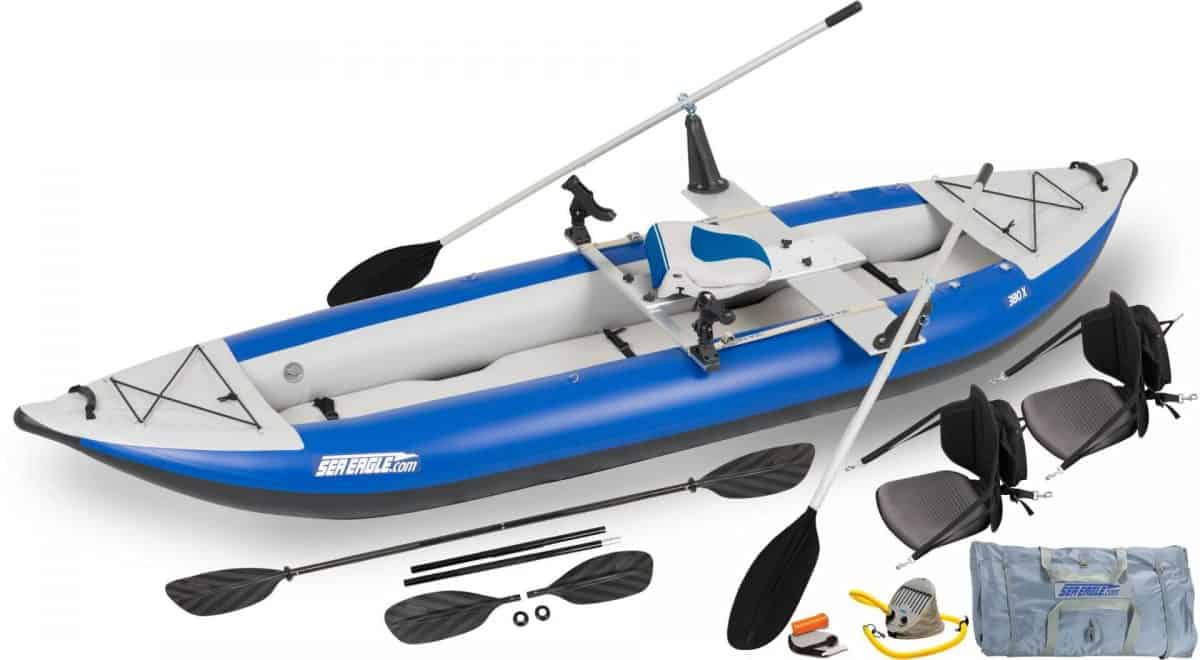 Sea Eagle 380X Explorer Inflatable Kayak QuikRow Package, Model Number 380XK_QR.