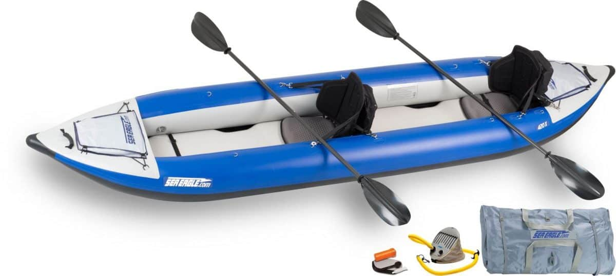 Sea Eagle 420X Explorer Inflatable Kayak Pro Carbon Package, Model Number 420XK_PC.