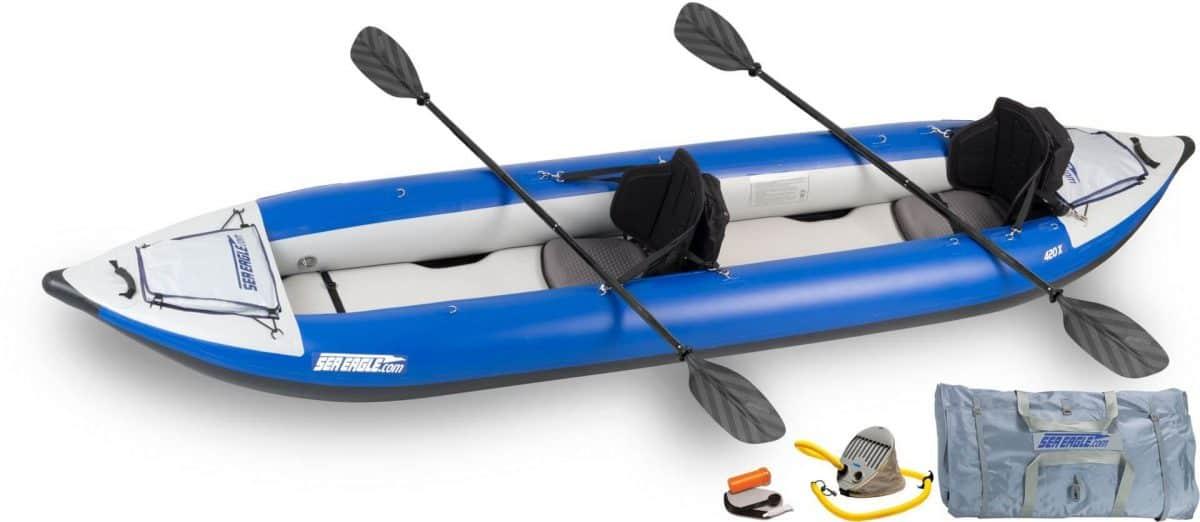 Sea Eagle 420X Explorer Inflatable Kayak Pro Kayak Package, Model Number 420XK_P.