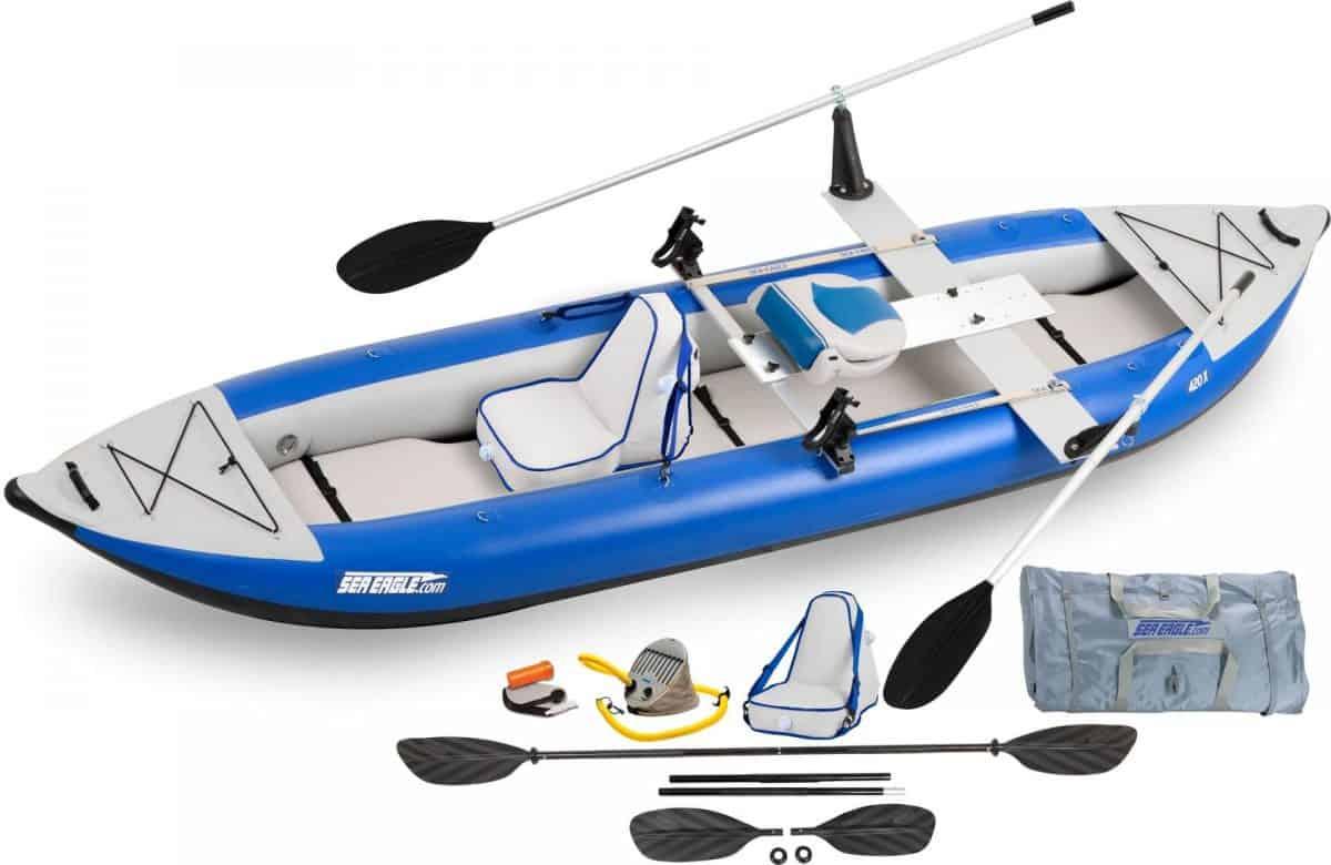 Sea Eagle 420X Explorer Inflatable Kayak, Model Number 420XK_QR.