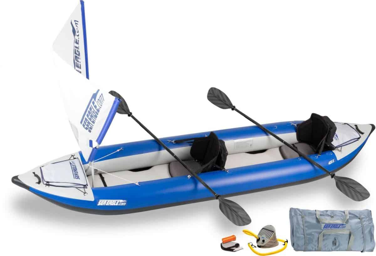 Sea Eagle 420X Explorer Inflatable Kayak, Model Number 420XK_QS.