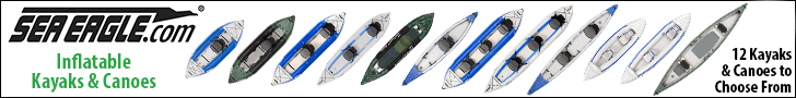 Sea Eagle Inflatable Kayaks and Canoes: Explorer, RazorLite, FastTrack, Sport Kayaks, and Travel Canoes.