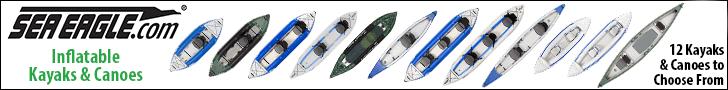 Sea Eagle Inflatable Kayaks and Canoes: Explorer, RazorLite, FastTrack, Sport Kayaks, and Travel Canoes.