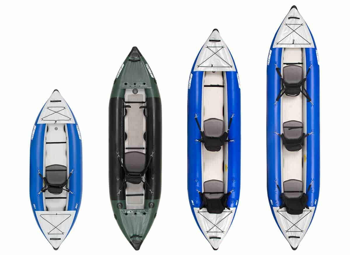 Sea Eagle Explorer Inflatable Kayaks Compared: 300x, 350fx, 380x, and 420x.