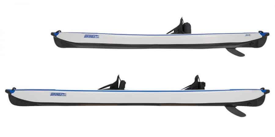 Sea Eagle RazorLite Inflatable Kayak 393rl and 473rl Side View.