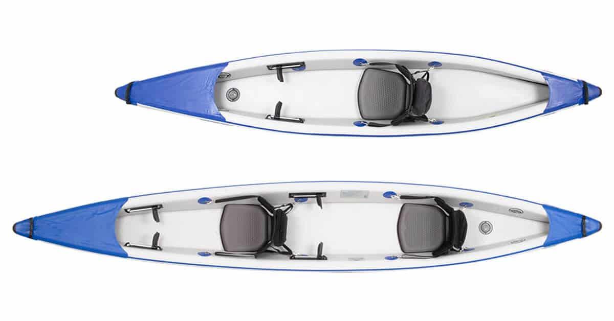 Sea Eagle RazorLite Inflatable Kayak 393rl and 473rl Top View.