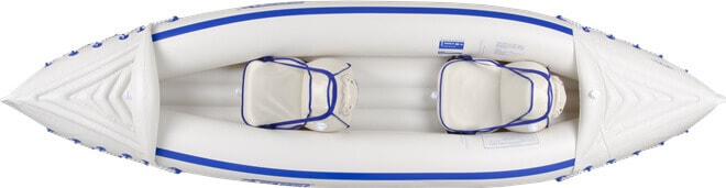 Top view of the Sea Eagle 330 Sport inflatable kayak.