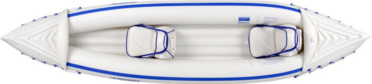 Top view of a Sea Eagle 370 Sport Inflatable Kayak.