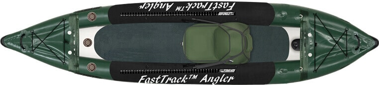 Top view of the Sea Eagle 385fta FastTrack Angler inflatable kayak.