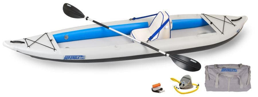 Sea Eagle 385ft FastTrack Inflatable Kayak Deluxe Solo Package, 385FTK_DS.