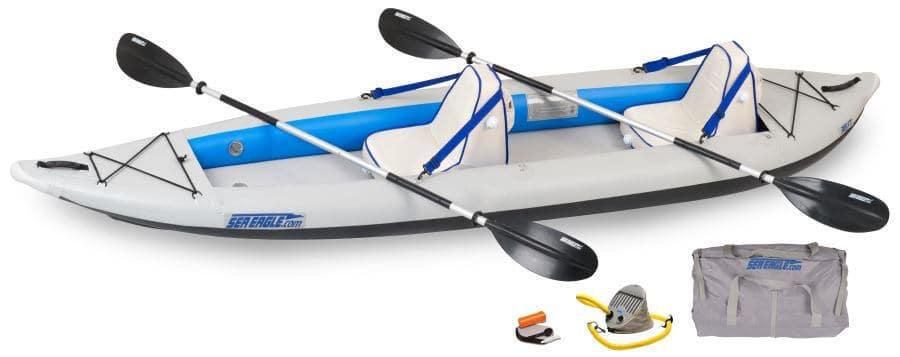 Sea Eagle 385ft FastTrack Inflatable Kayak Tandem Deluxe Package, 385FTK_D.