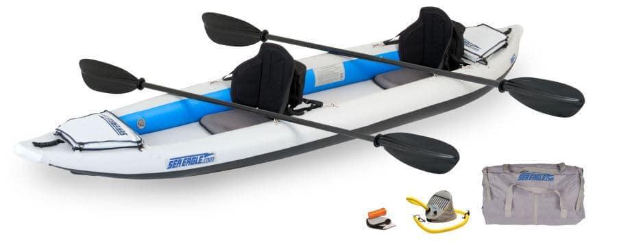 Sea Eagle 385ft FastTrack Inflatable Kayak Tandem Pro Carbon Package, 385FTK_PC.