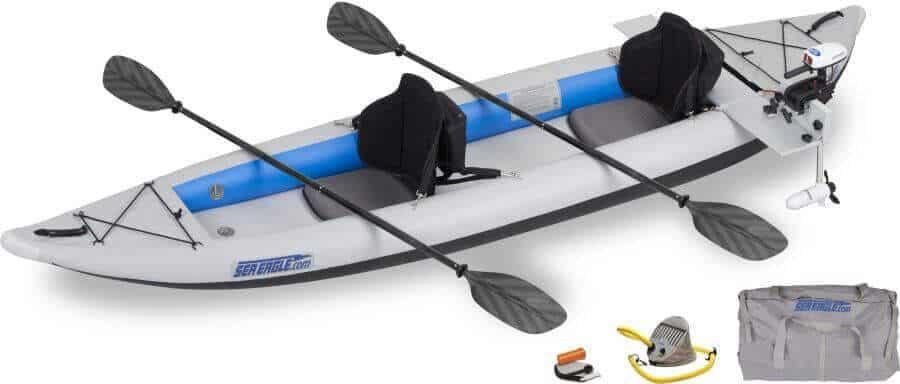 Sea Eagle 385ft FastTrack Inflatable Kayak Tandem Pro Motor Package, 385FTK_PM.