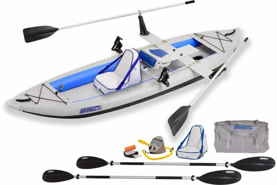 Sea Eagle 385ft FastTrack Inflatable Kayak Tandem QuikRow Package, 385FTK_QR.