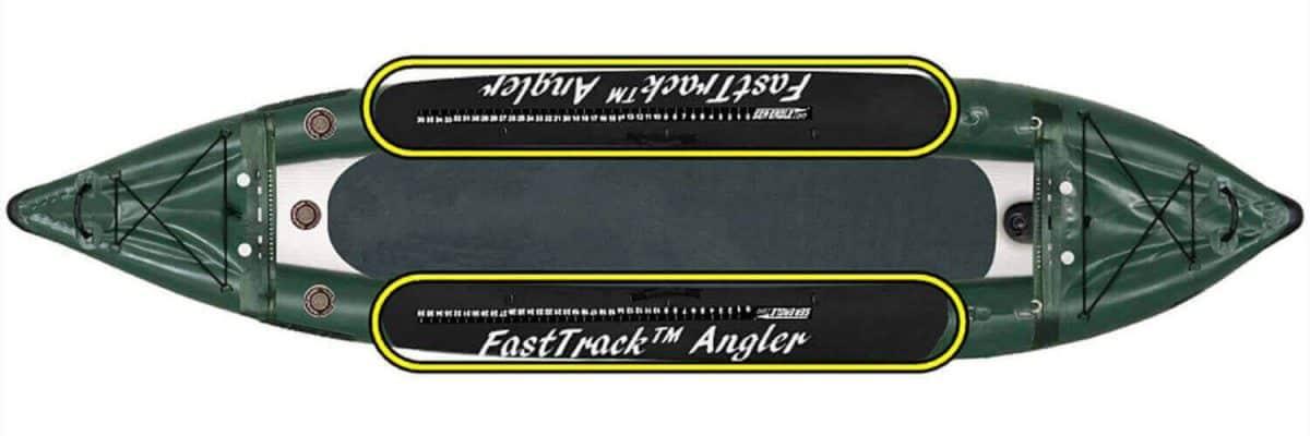 The Sea Eagle 385fta FastTrack Angler inflatable kayak has reinforced sidewalls.