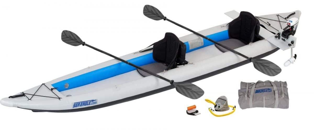 Sea Eagle 465ft FastTrack Inflatable Kayak 2-Person Pro Motor Package, Model 465FTK_PM.