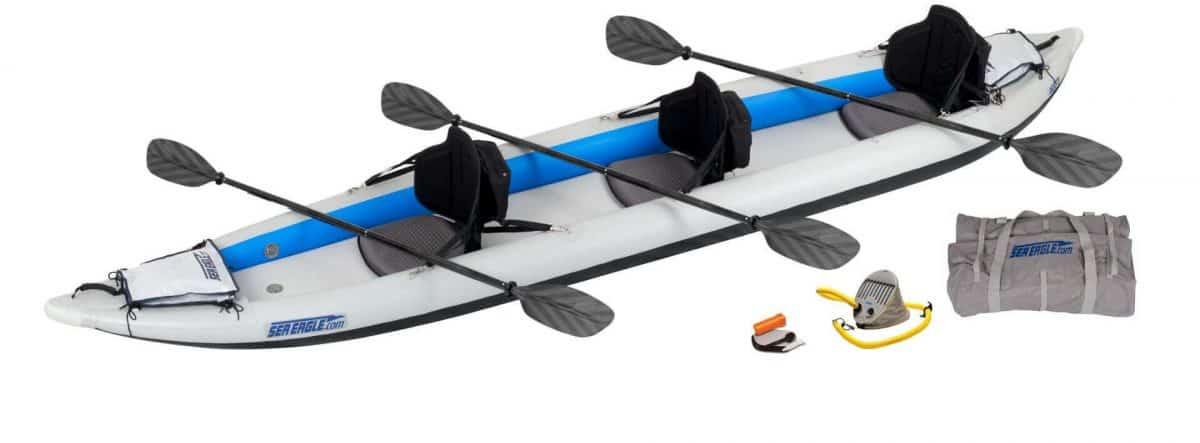 Sea Eagle 465ft FastTrack Inflatable Kayak 3-Person Pro Package, Model 465FTK_P.
