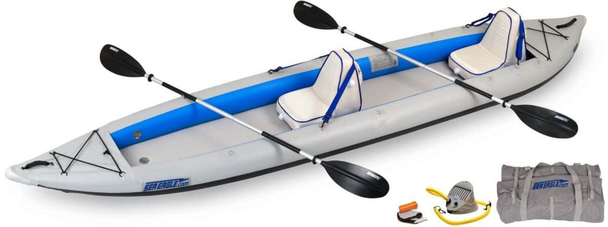 Sea Eagle 465ft FastTrack Inflatable Kayak Deluxe 2-Person Package, Model 465FTK_D2.