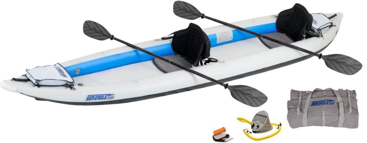 Sea Eagle 465ft FastTrack Inflatable Kayak Pro 2-Person Package, Model 465FTK_P2.
