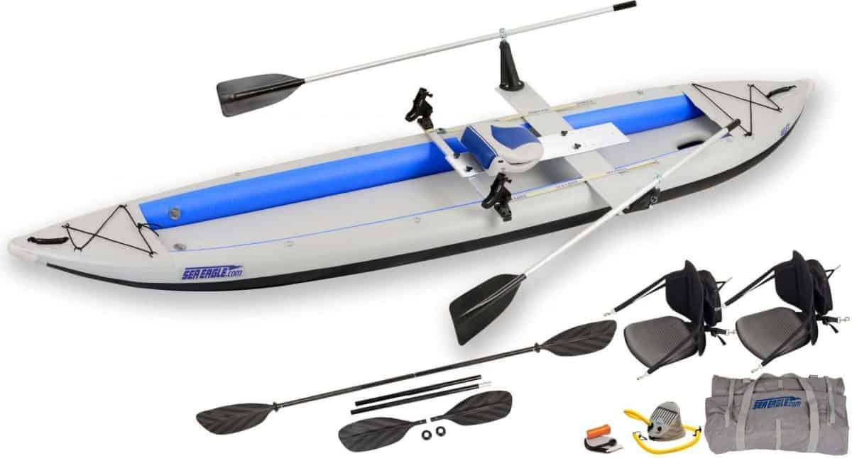 Sea Eagle 465ft FastTrack Inflatable Kayak QuikRow Package, Model 465FTK_QR.
