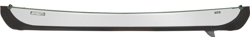 Side view of a Sea Eagle Travel Canoe 16 Inflatable Canoe.