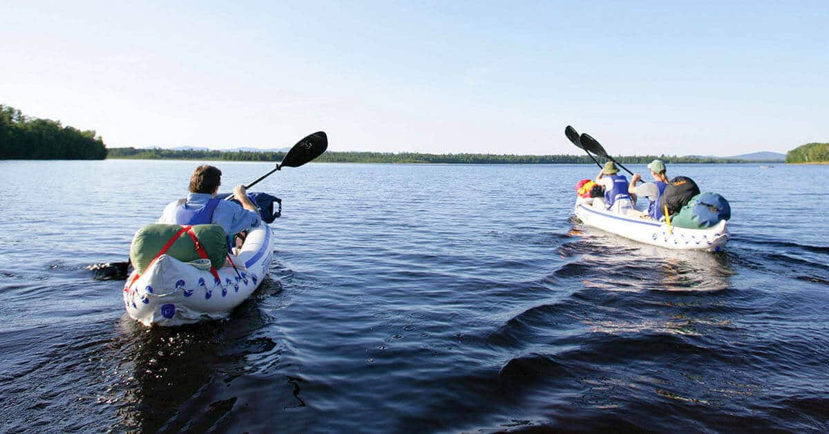 The Sea Eagle 370 Sport Inflatable Kayak has plenty of extra storage room for gear.