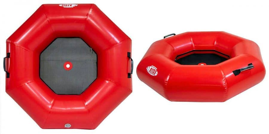 The top and side view of AIRE Inflatable Heavy Duty River Tubes.