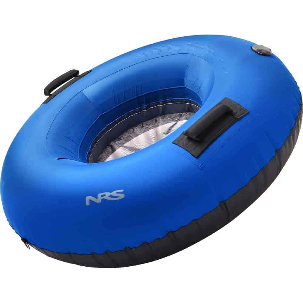The side view of an NRS Wild River Float Tube with mesh floor.