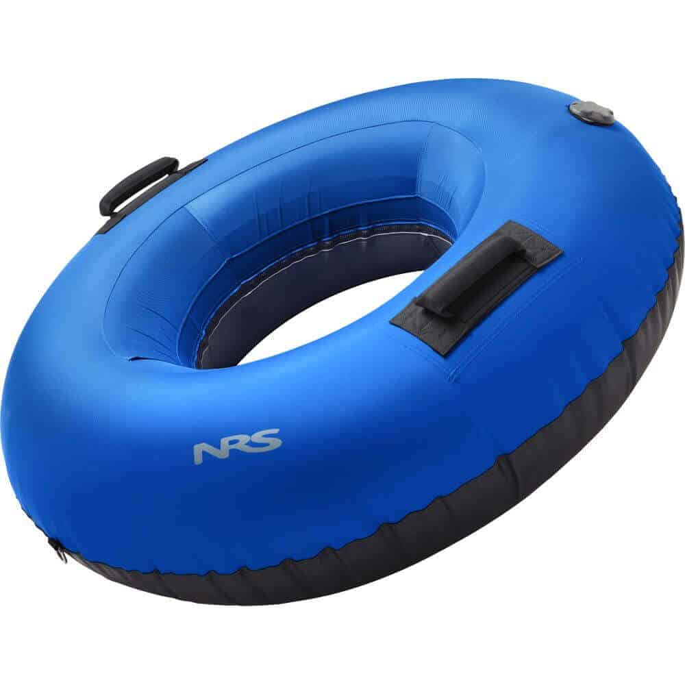 The side view of an NRS Wild River Float Tube without a mesh floor.