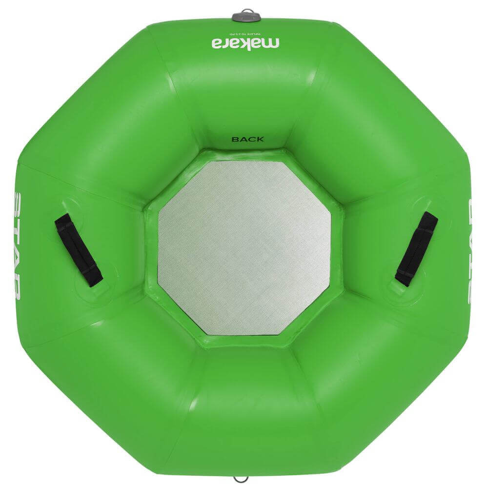 The top view of a STAR Makara River Tube In green.