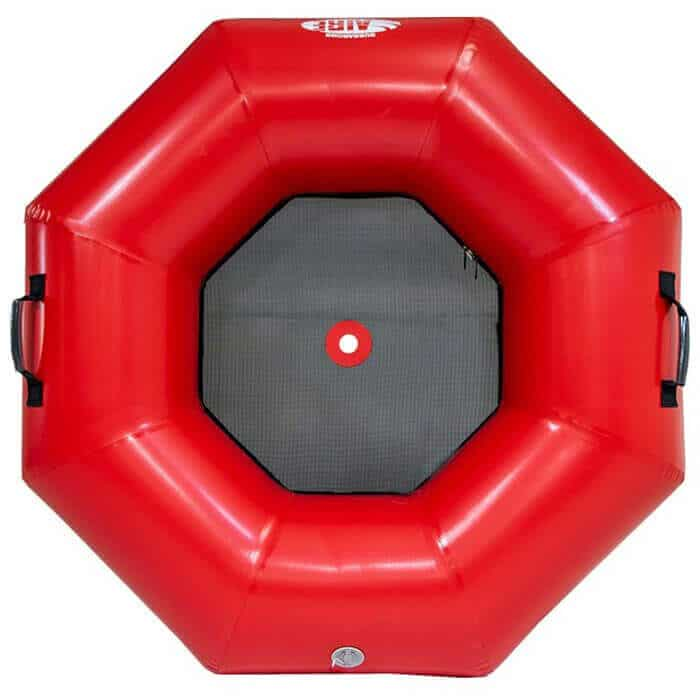The top view of an AIRE Bubbabomb inflatable river tube.